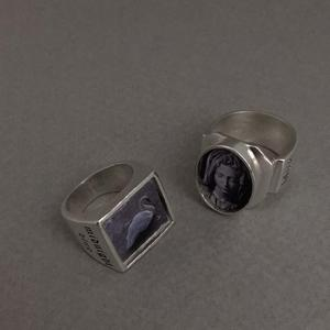 [925silver]oval bold ring 타원형 반지